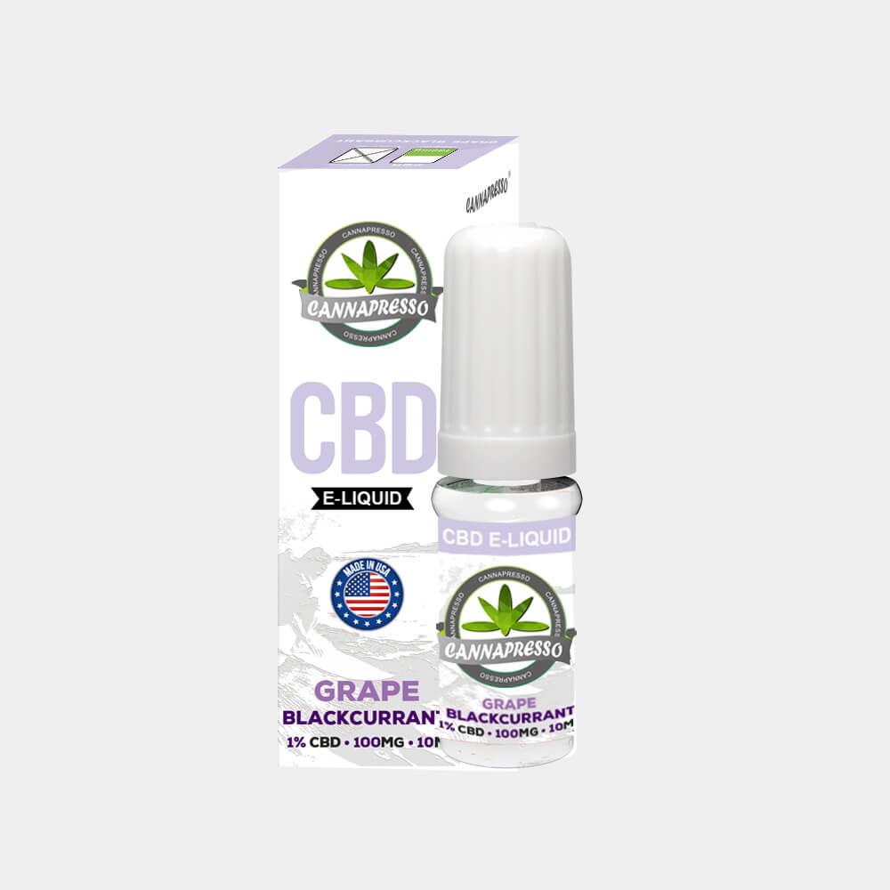 Cannapresso - Grape-Blackcurran CBD E-Liquid (10ml/100mg)