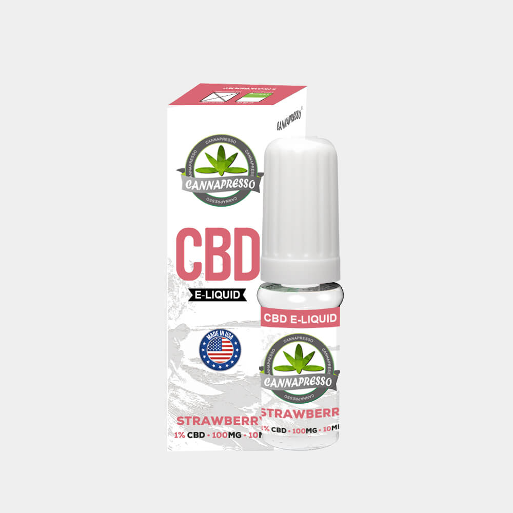 Cannapresso - Strawberry CBD E-Liquid (10ml/100mg)