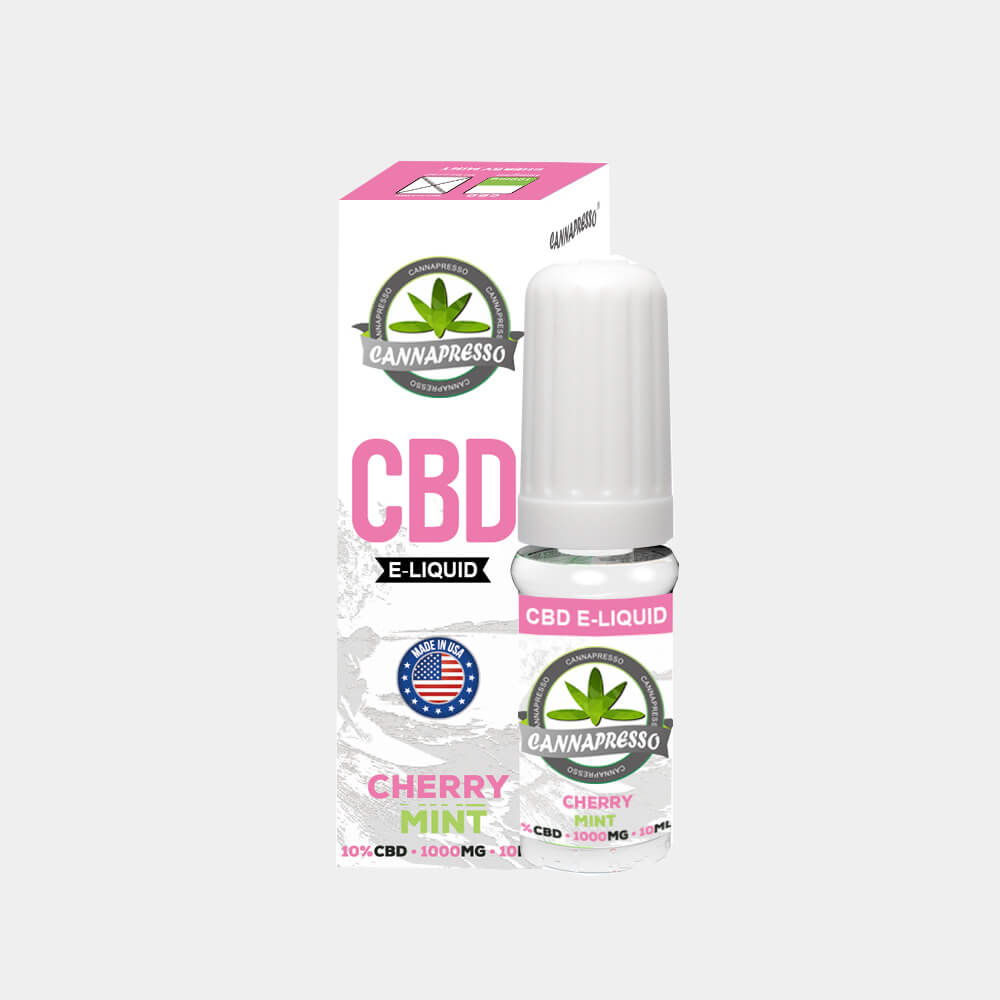 Cannapresso - Cherry Mint CBD E-Liquid (10ml/1000mg)