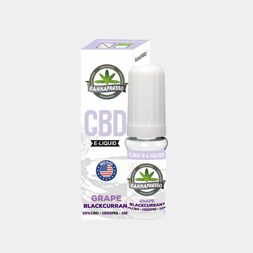 Cannapresso - Grape-Blackcurran CBD E-Liquid (10ml/1000mg)