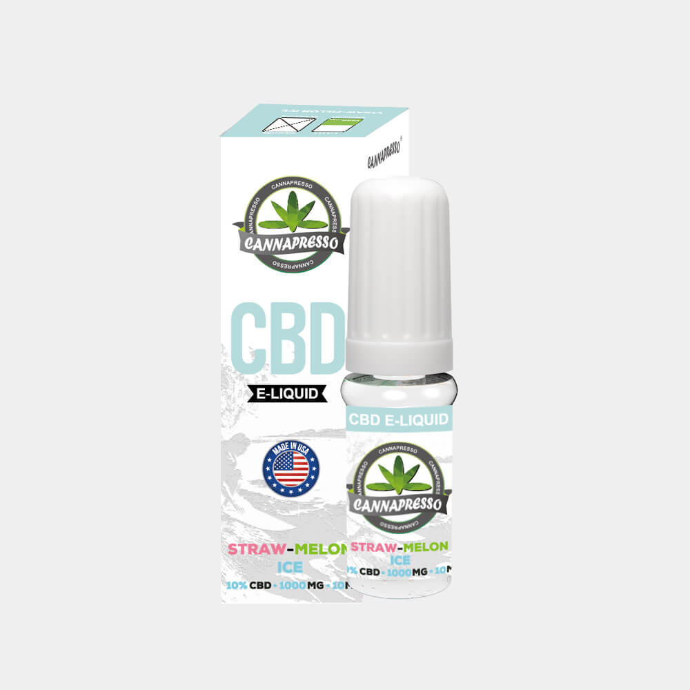 Cannapresso - Straw-Melon Ice CBD E-Liquid (10ml/1000mg)