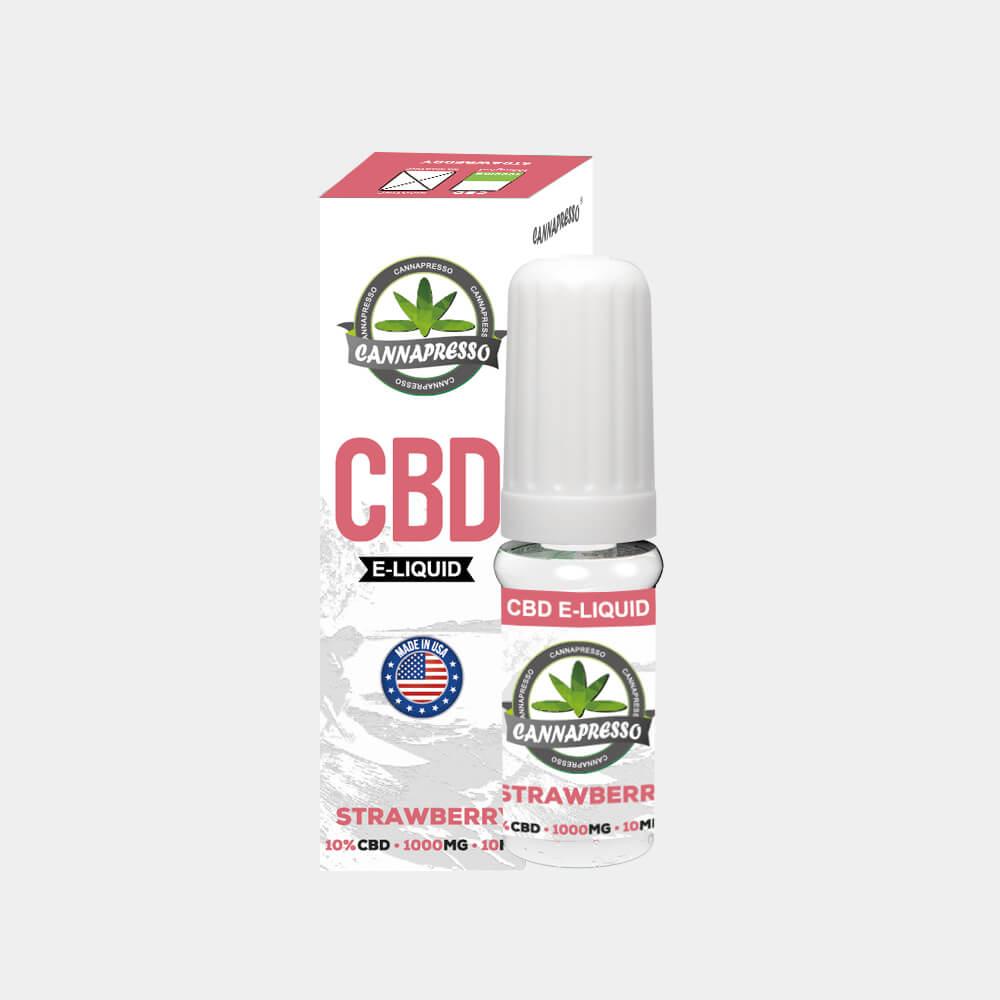 Cannapresso - Strawberry CBD E-Liquid (10ml/1000mg)