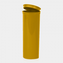 Poptop gold plastic tobacco and herbs container big 50mm