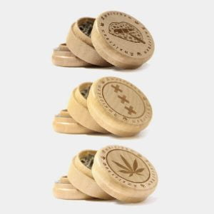 Amsterdam 2 wood grinder 60mm - 3 parts (6pcs/display)