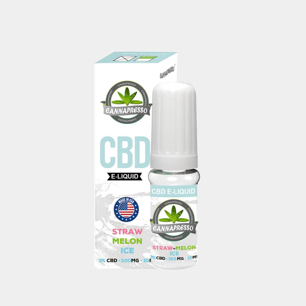 Cannapresso - Straw-Melon Ice CBD E-Liquid (10ml/300mg)