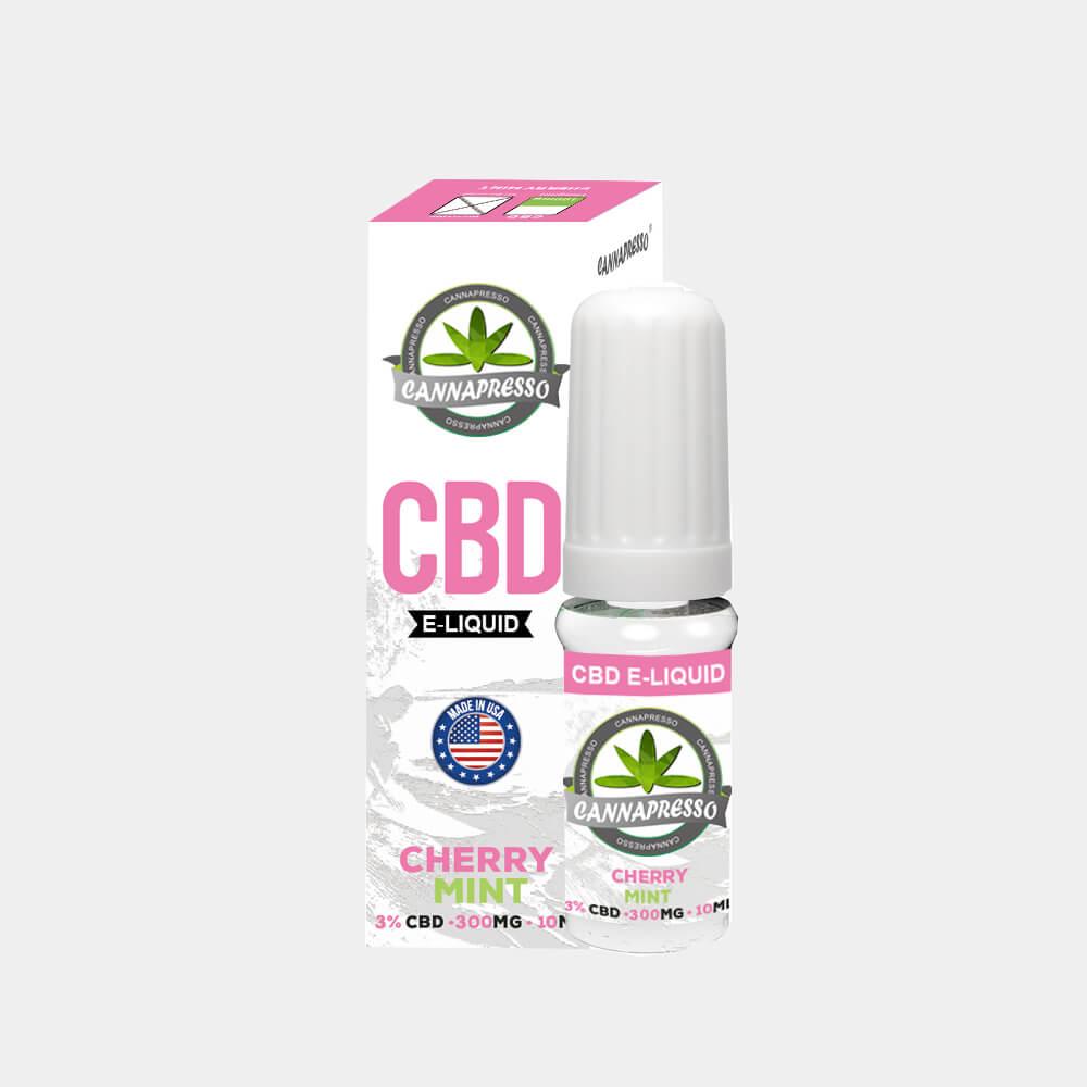 Cannapresso - Cherry Mint CBD E-Liquid (10ml/300mg)