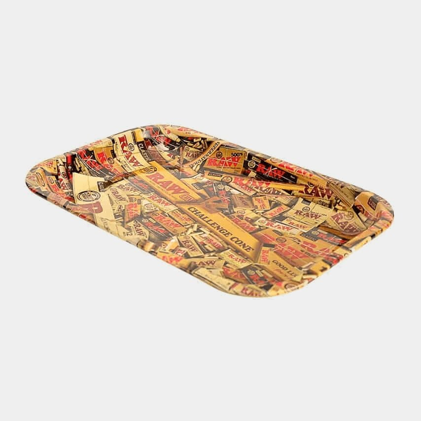 RAW - Mixed Products Medium Metal Rolling Tray