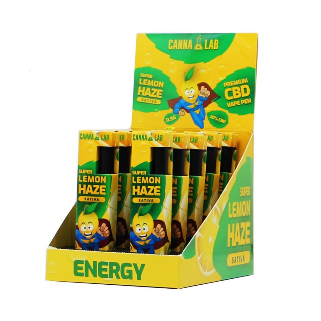 Cannalab - Super Lemon Haze 20% CBD disposable pen (10pcs/display)