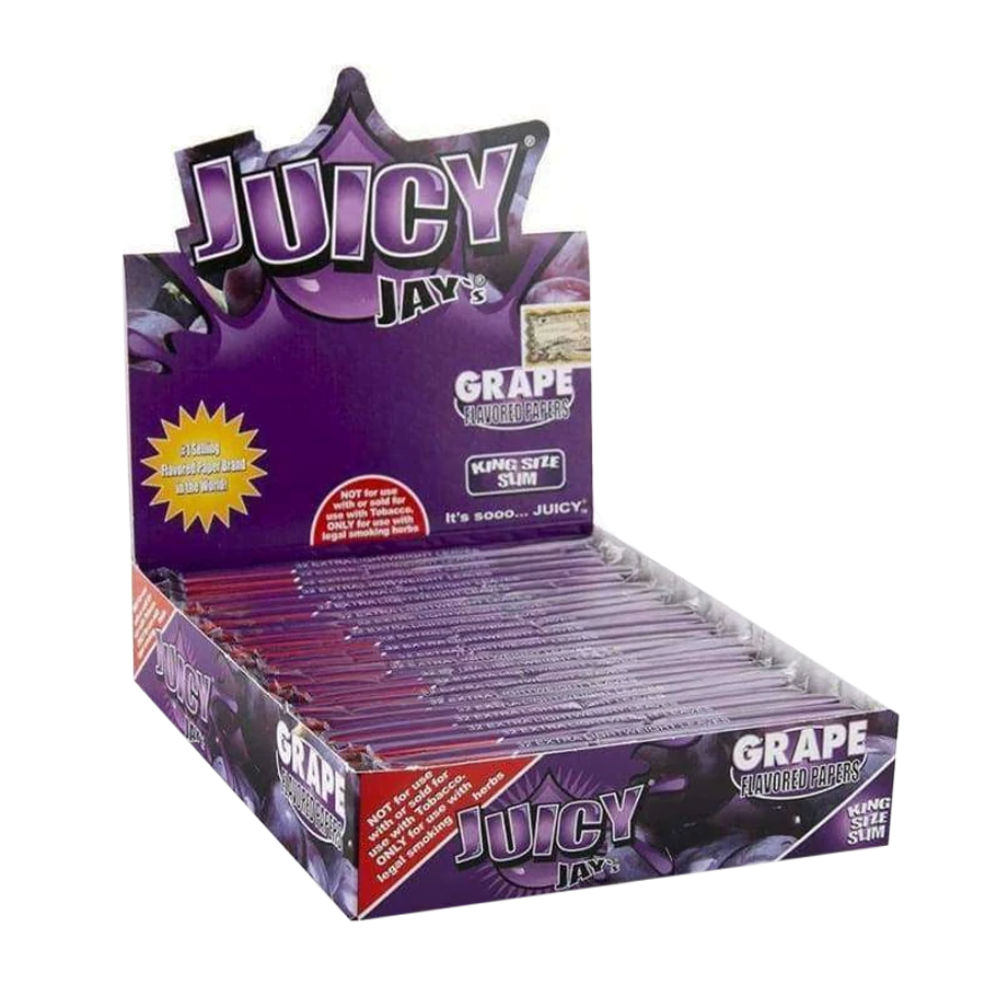 Juicy Jay kingsize grape rolling papers (24pcs/display)