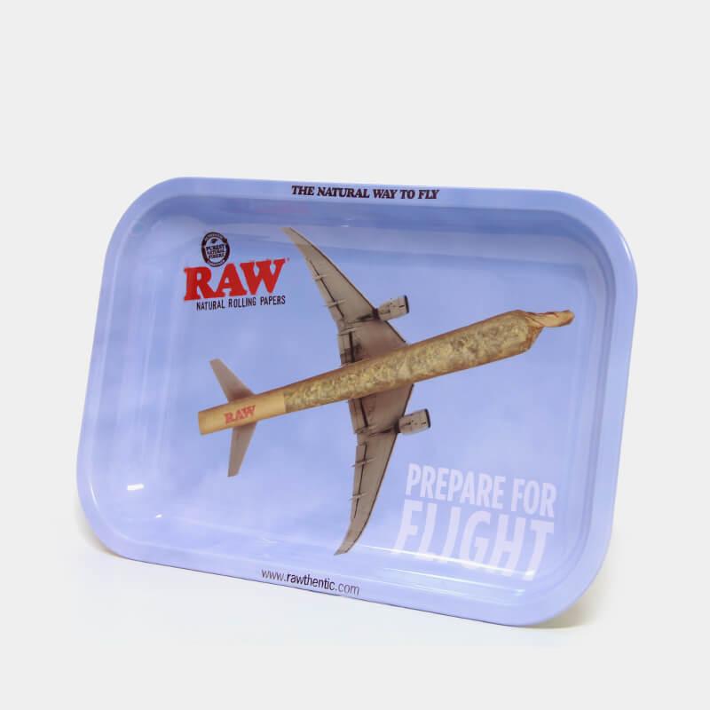 RAW - Prepare For Flight Medium Metal Rolling Tray