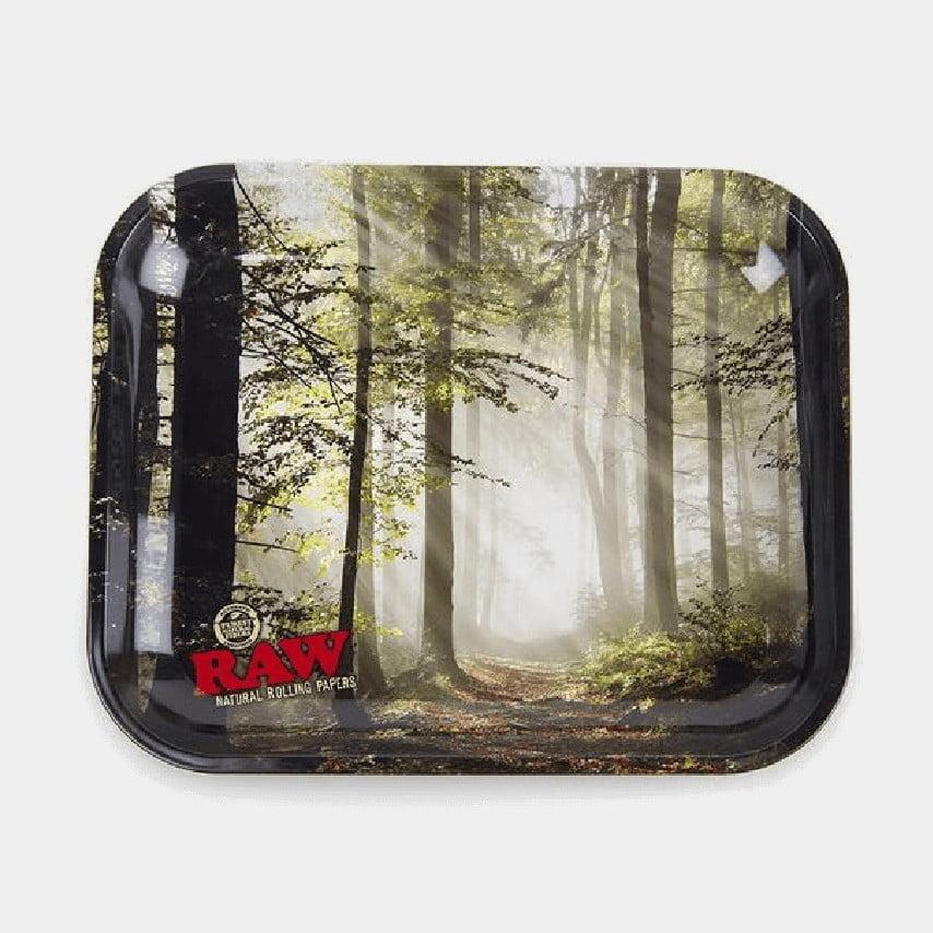 RAW - Forest Medium Metal Rolling Tray