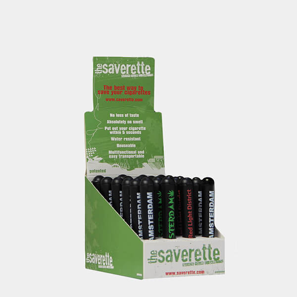 Saverette - Kingsize Amsterdam designs joint holders 90mm (24pcs/display)