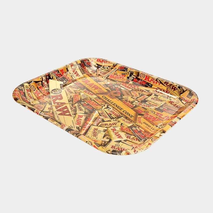 RAW - Mixed Products Large Metal Rolling Tray