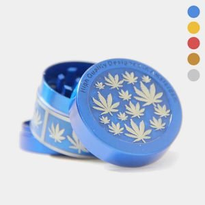 Weed leaves 1 metal grinder 40mm - 3 parts (6pcs/display)