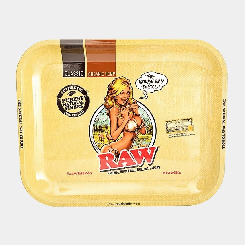 RAW - Bikini Large Metal Rolling Tray