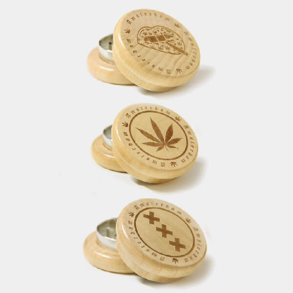 Amsterdam 1 wood grinder 50mm - 2 parts (12pcs/display)