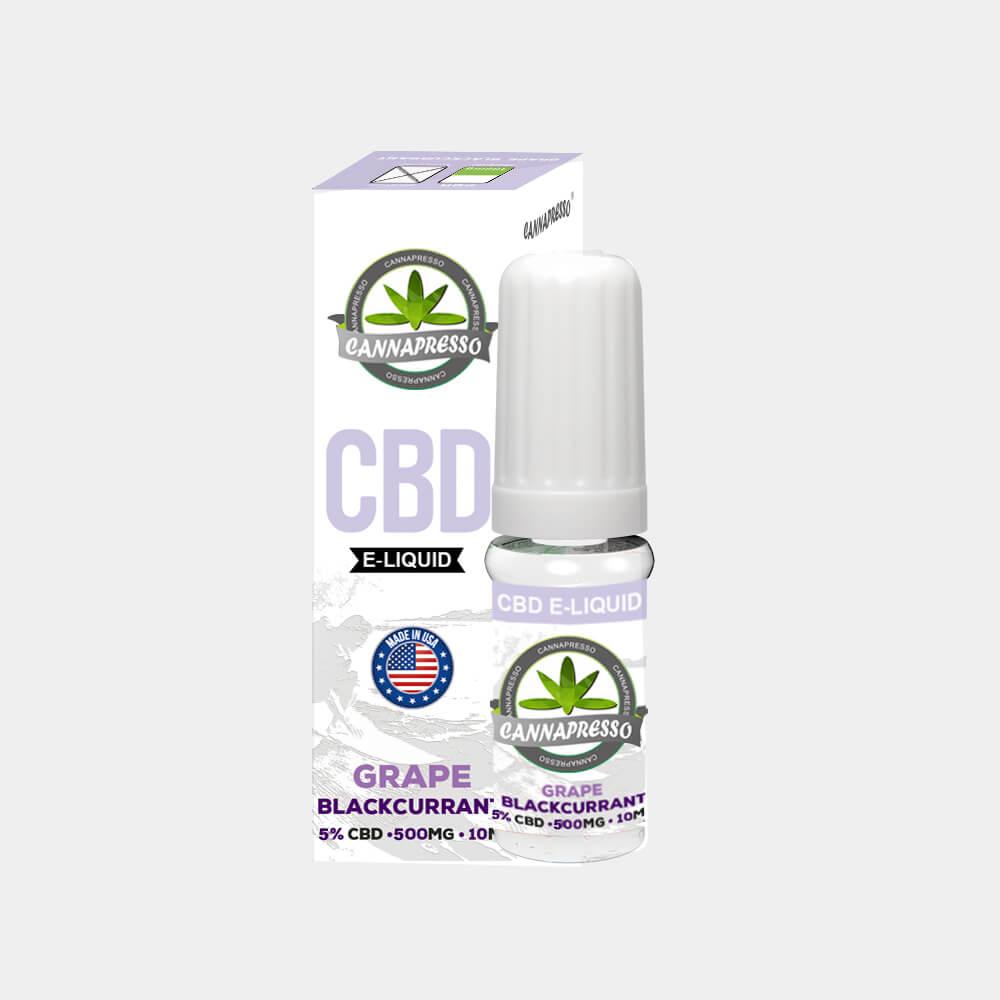 Cannapresso - Grape-Blackcurran CBD E-Liquid (10ml/500mg)