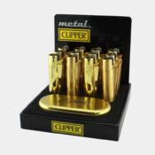 Clipper Gold Metal Lighters + Giftbox (12pcs/display)