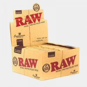 RAW Connoisseur kingsize slim rolling papers + tips (24pcs/display)
