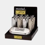 Clipper Silver Metal Lighters + Giftbox (12pcs/display)