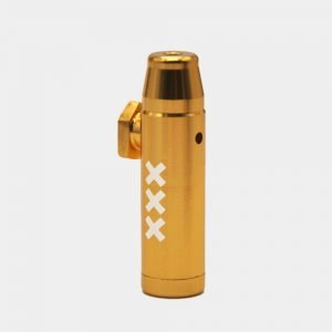 Metal snorter powder bullet XXX yellow