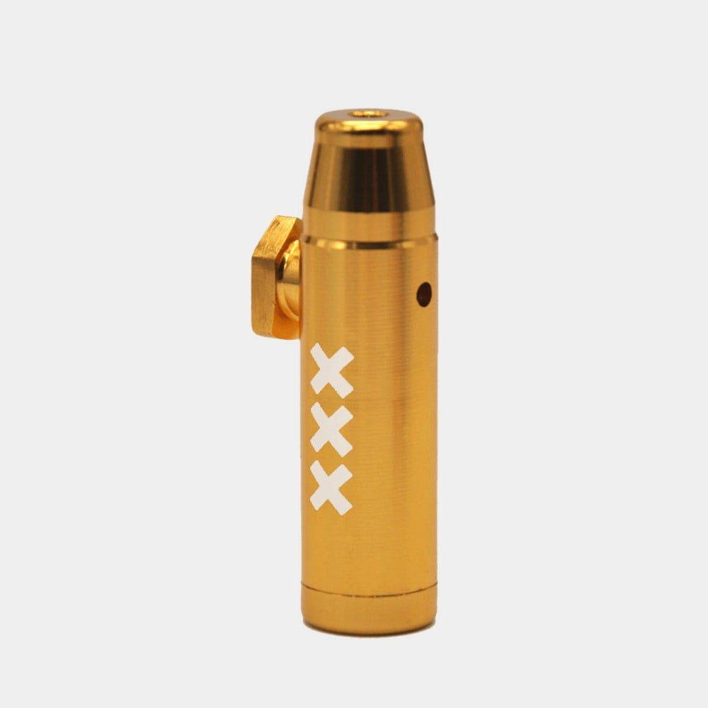 Metal snorter powder bullet XXX yellow