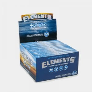 Elements Connoisseur kingsize slim rolling papers + tips (24pcs/display)