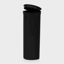Poptop black plastic tobacco and herbs container big 50mm