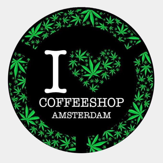 Green leaves I love Coffeeshop Ams Ashtray