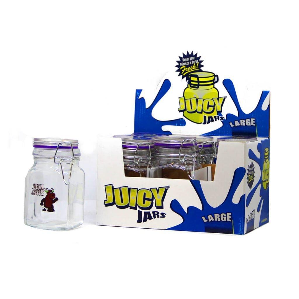 Juicy Jay tobacco and herbs glass jars large - (6pcs/display)