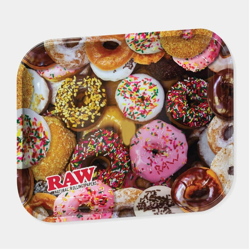 RAW - Donut Large Metal Rolling Tray