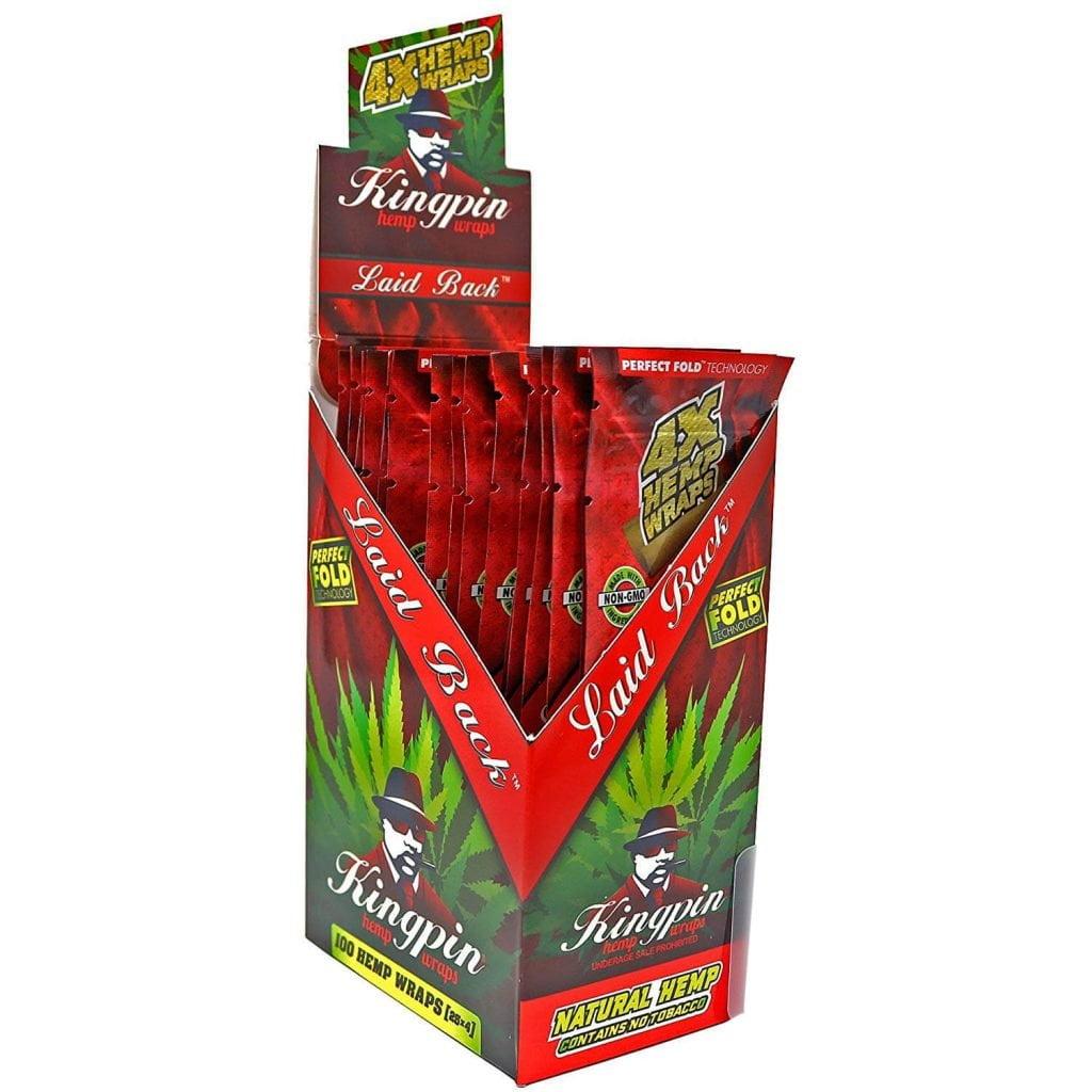 Kingpin Hemp Wraps Blunt Laid Back (25pcs/display)