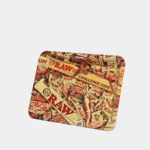 RAW - Mixed Products Small Metal Rolling Tray