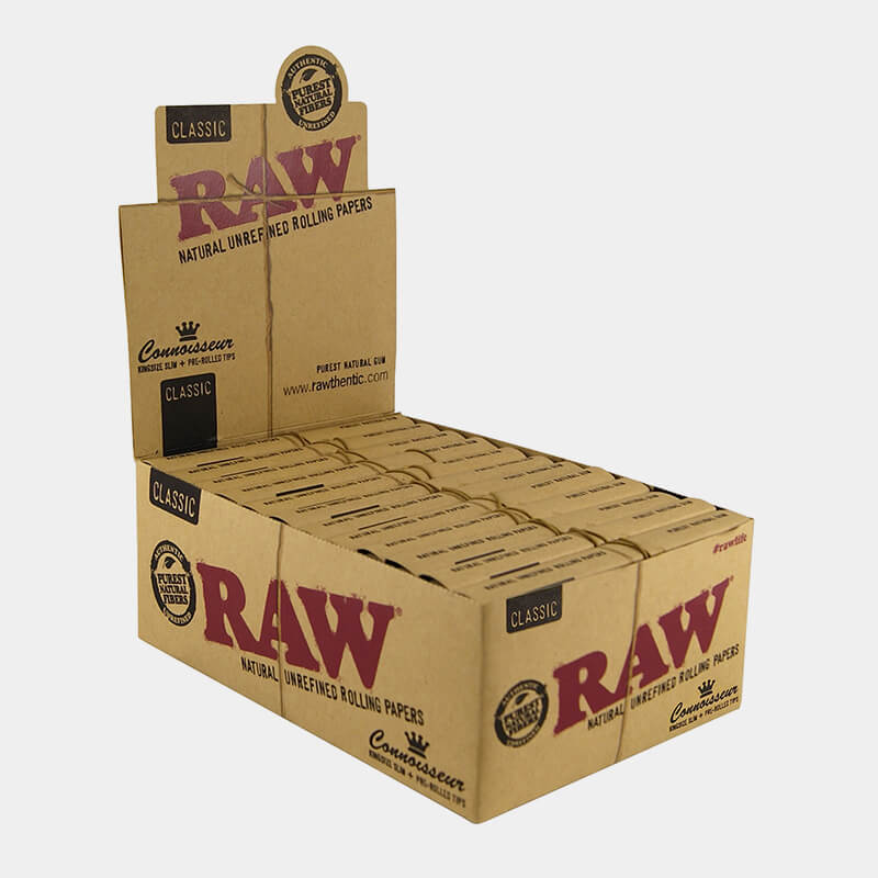 RAW Connoisseur Kingsize Rolling Papers With Prerolled Tips (24pcs/display)