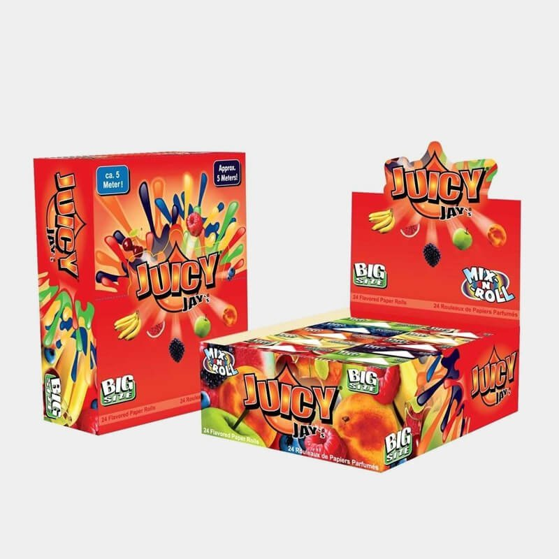 Juicy Jay Rolls 5 meters slim mix 8 flavours (24pcs/display)