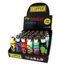 Clipper™ Mushrooms 3 silicone cover lighters (24pcs/display)