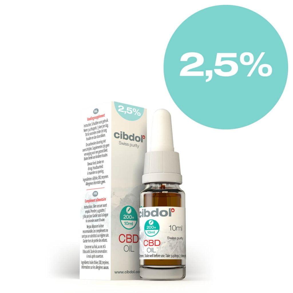 Cibdol - 2.5% CBD oil (10ml)