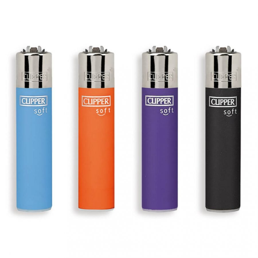 Clipper™ Soft Touch 3 Colorful Lighters (24pcs/display)