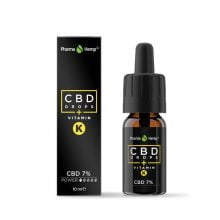 Pharma Hemp CBD Drops 7% Enriched with Vitamin K (10ml)