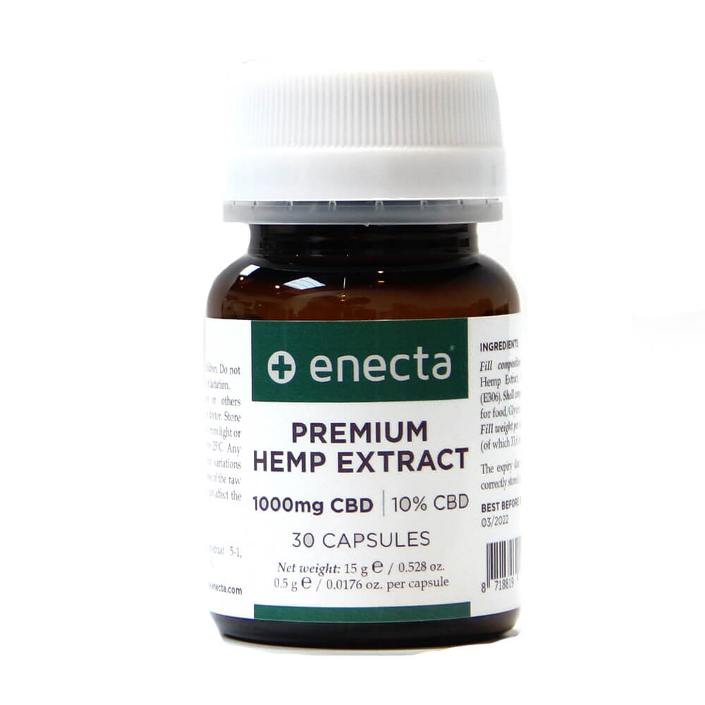 Enecta 1000mg CBD Hemp Extract Soft-gels (30 capsules)