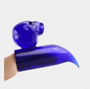 Skull finger glass dabber