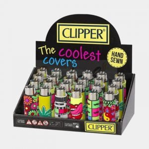 Clipper™ Mix-Go silicone cover lighters (24pcs/display)