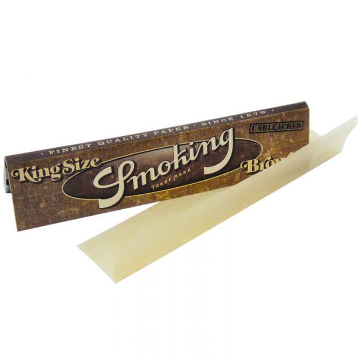 Smoking Brown kingsize slim rolling papers (50pcs/display)