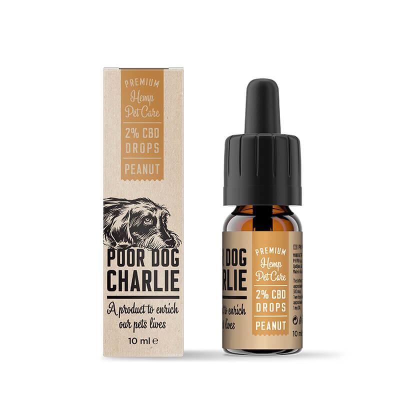 Pharma Hemp Poor Dog Charlie 2% CBD Drops for Dogs - Peanut Taste (10ml)