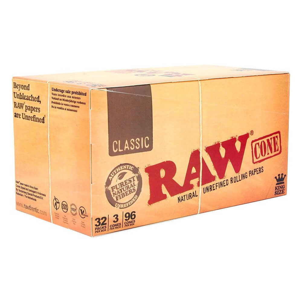 RAW Emperador slim cones (32packs/display) 3pcs per pack
