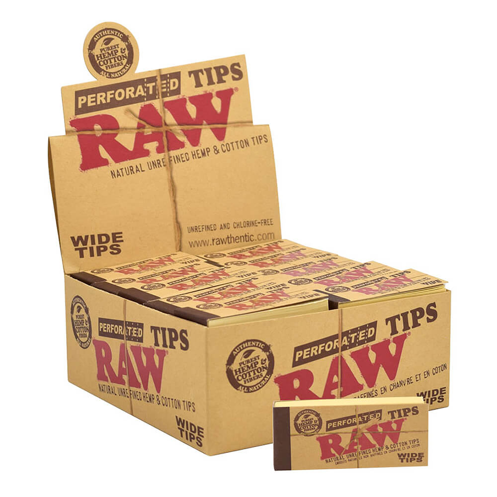 RAW Perforated Wide Tips (50pcs/display)