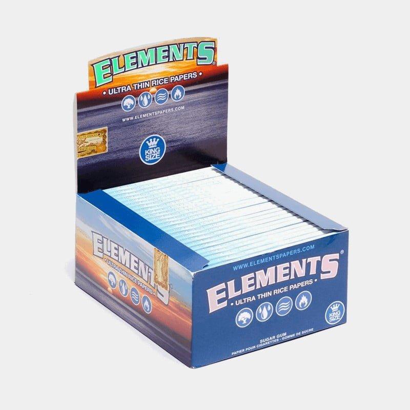 Elements kingsize slim rolling papers (50pcs/display)