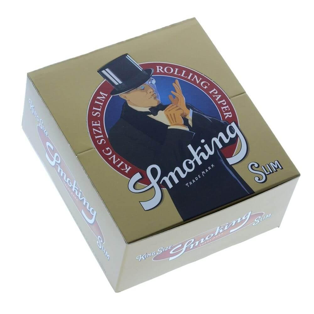 Smoking Gold kingsize slim rolling papers (50pcs/display)