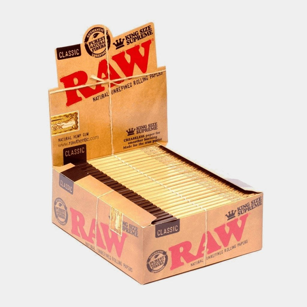 RAW Kingsize slim rolling papers (50pcs/display)