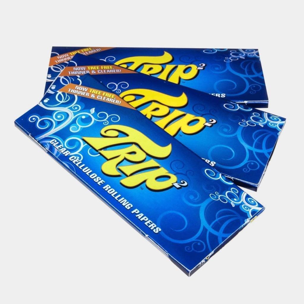 Trip transparent kingsize slim rolling papers (24pcs/display)